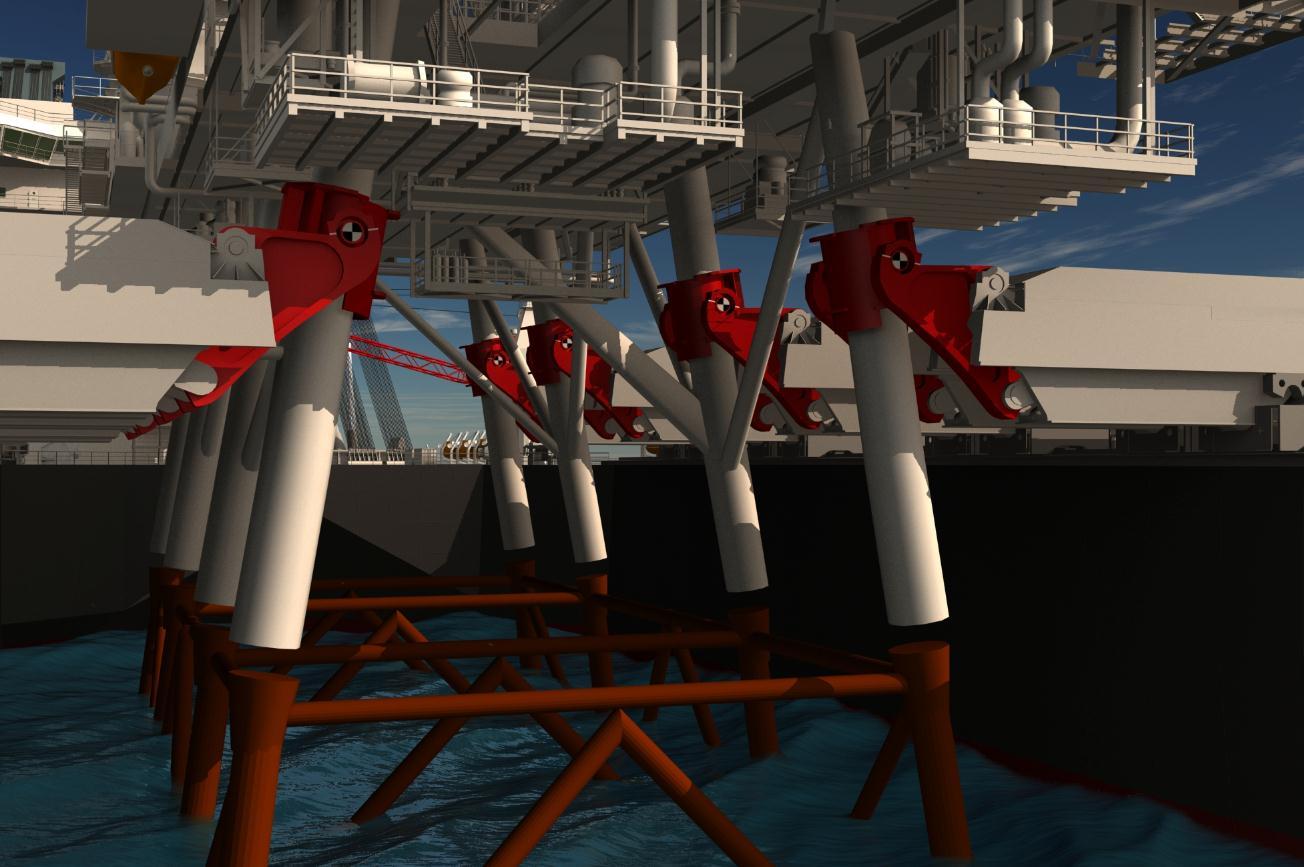 Pieter Schelte von Allseas nimmt Offshore-Plattformen Huckepack