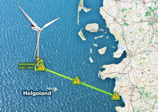 Baubeginn der deutschen Offshore Windparks Meerwind Süd und Meerwind Ost