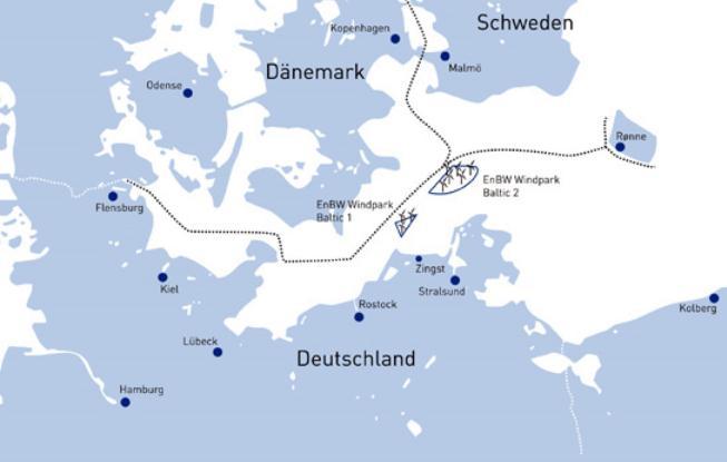 500 Millionen Euro für EnBW Baltic 2